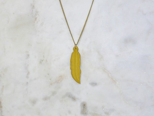 Image of Rebel Chic Warrior Feather Necklace