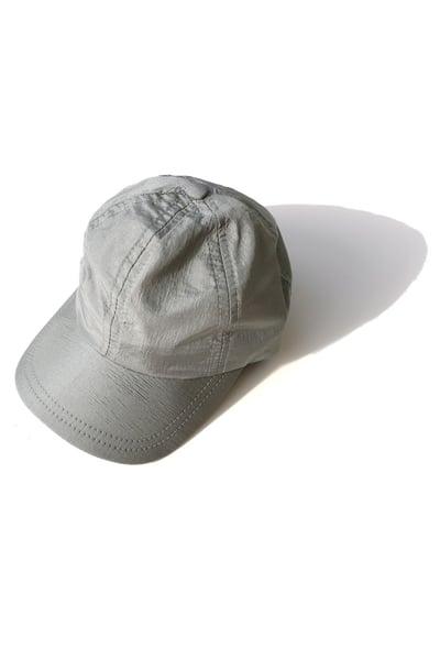 Image of silver nylon cap