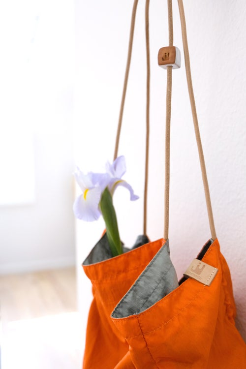 Image of reversible square tote - nylon