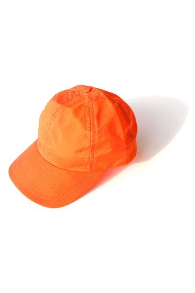 Image of orange nylon cap