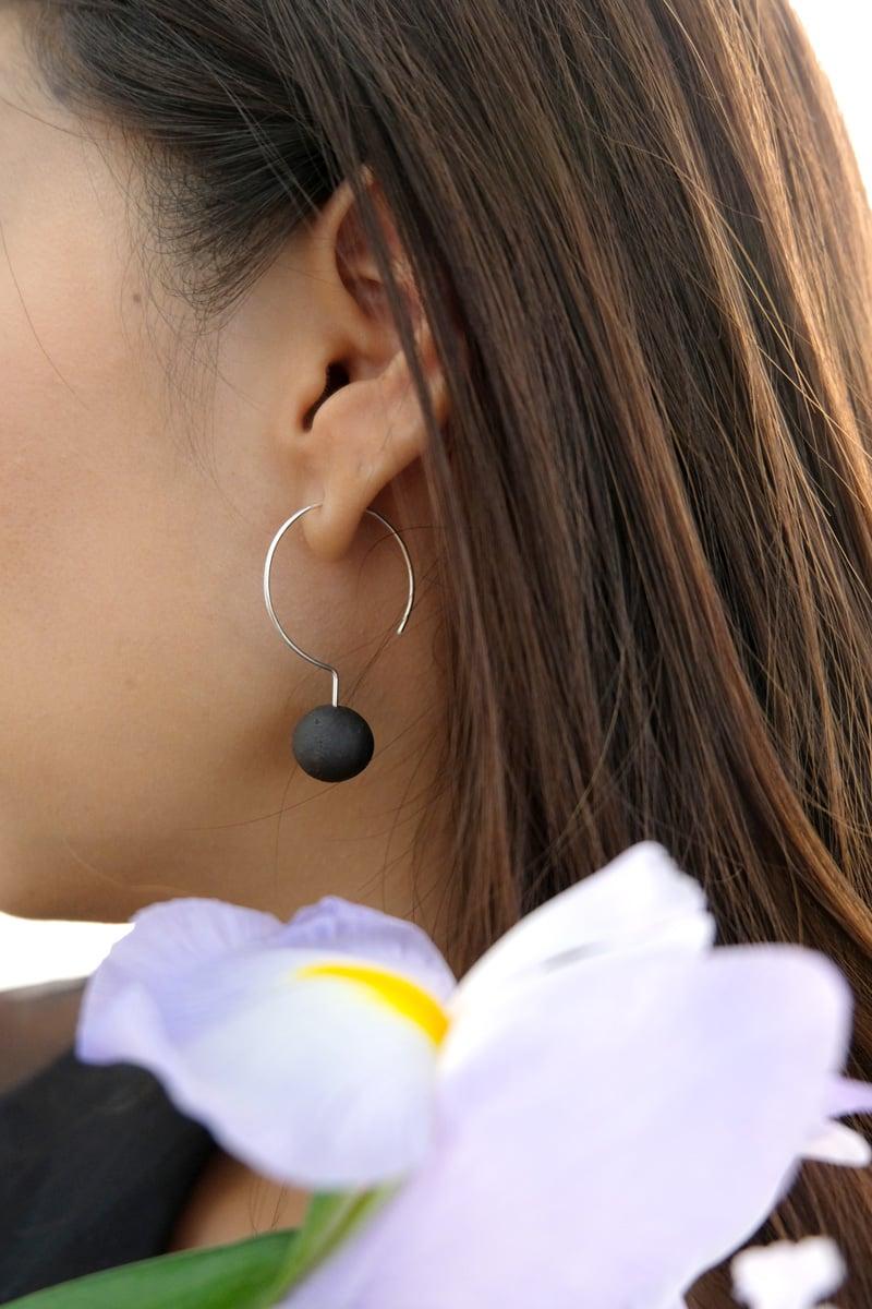 Image of moon earring