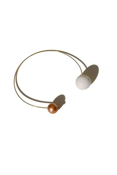 Image of pearl loop earring