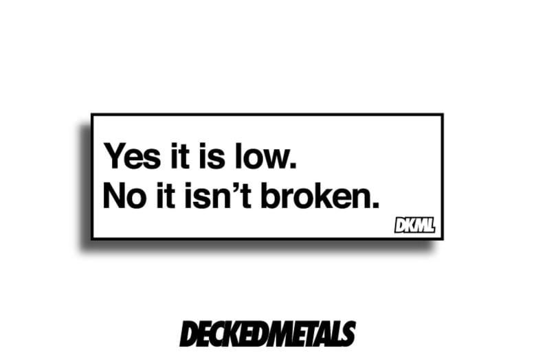 "Image of ""Low"" printed slap sticker"