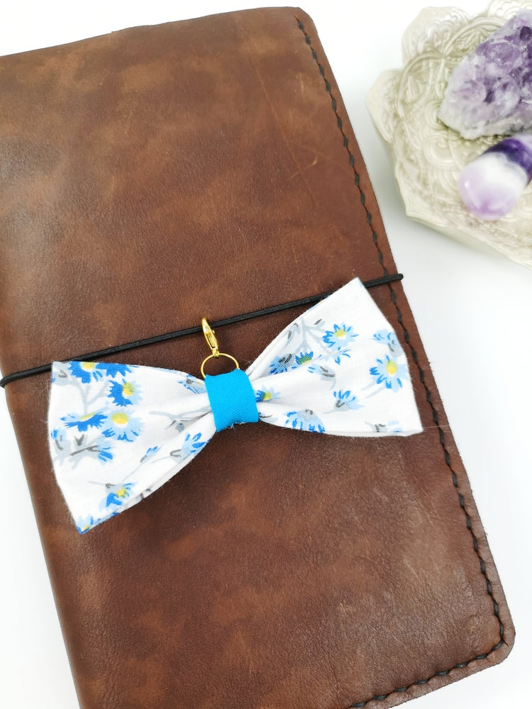 Image of Blue Floral Bow