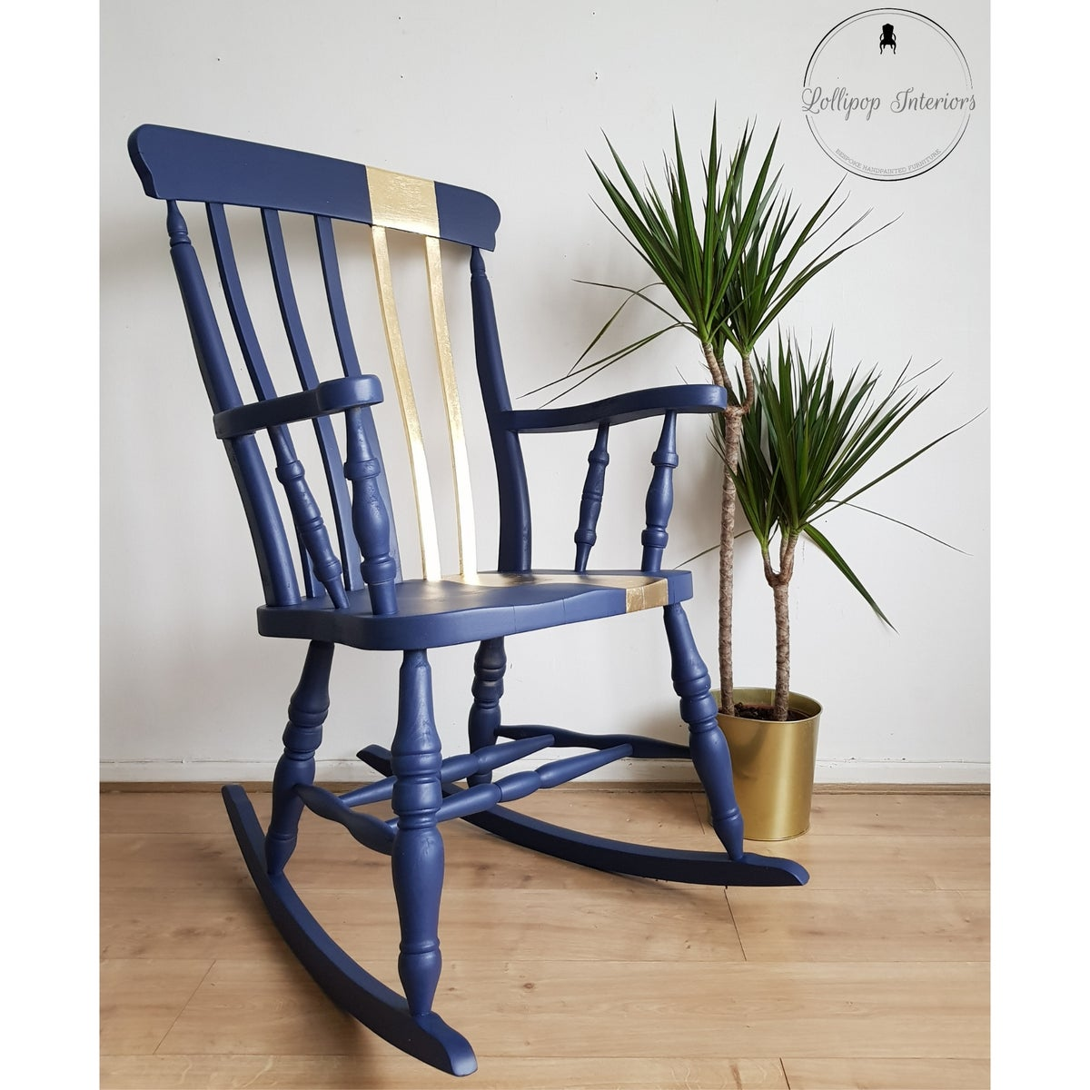 Image of Solid pine rocking chair