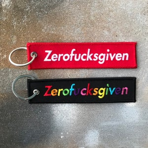 Image of Zerofucksgiven flight tag