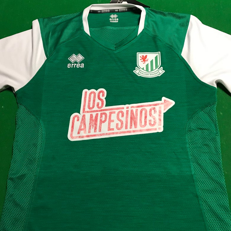 Image of Los Campesinos! sponsored Welton Rovers FC shirt