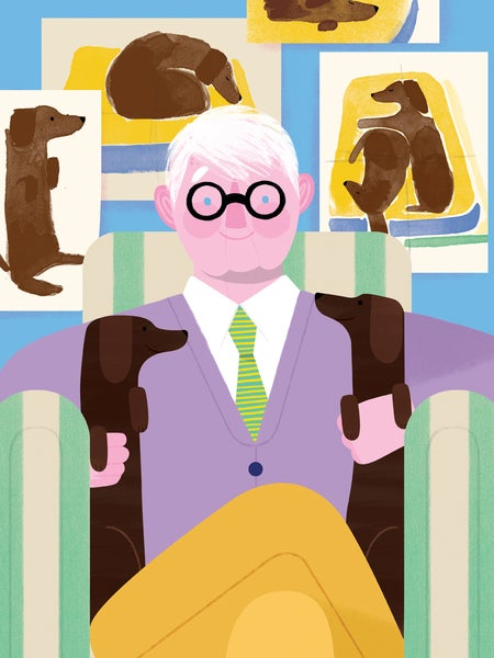 Image of David Hockney & Stanley & Boodgie