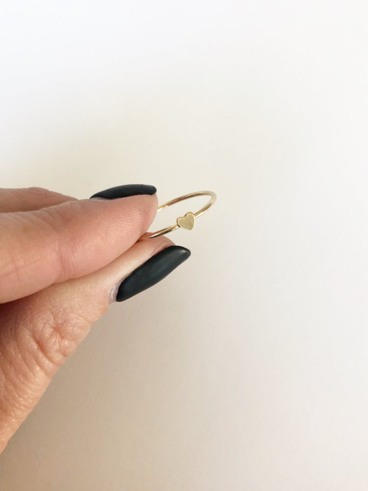 Image of Tiny gold filled Heart stacker