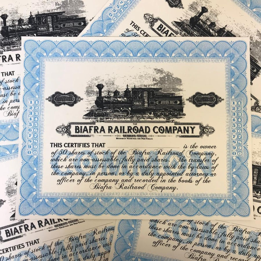 Image of Biafra Rail - Stock Certificate