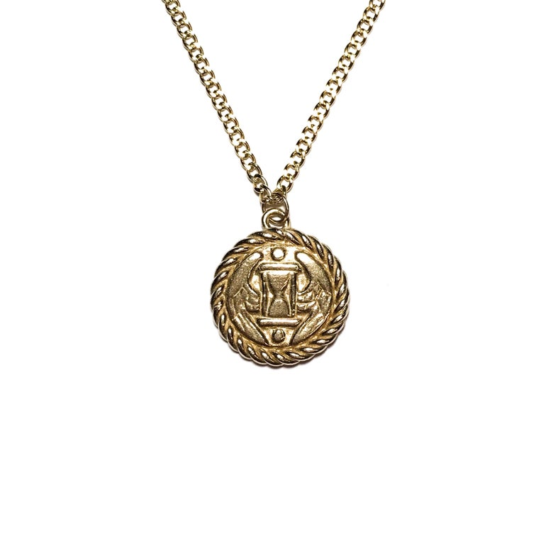 Image of Tempus Fugit necklace in sterling silver or 10k gold