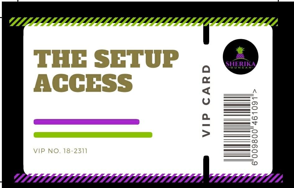 Image of VIP Membership SetUp Access Card