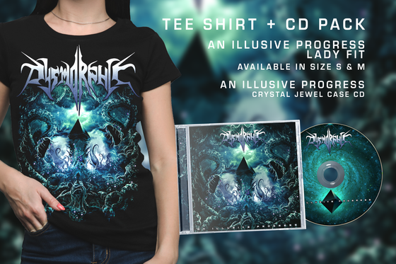 "Image of DYSMORPHIC - PACK ""ILLUSIVE"" - TEE SHIRT LADY FIT + CD"