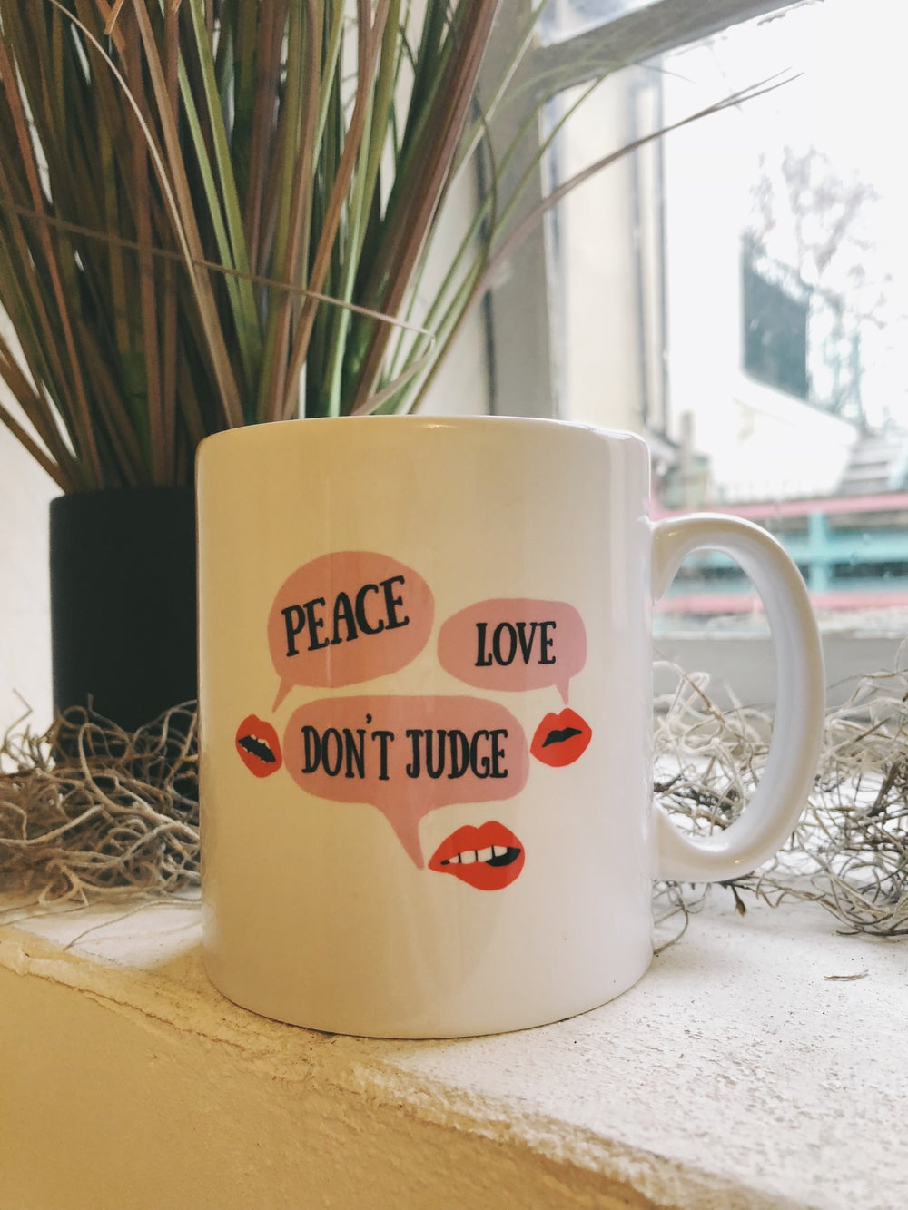 Image of Peace, Love, Don't Judge Mug