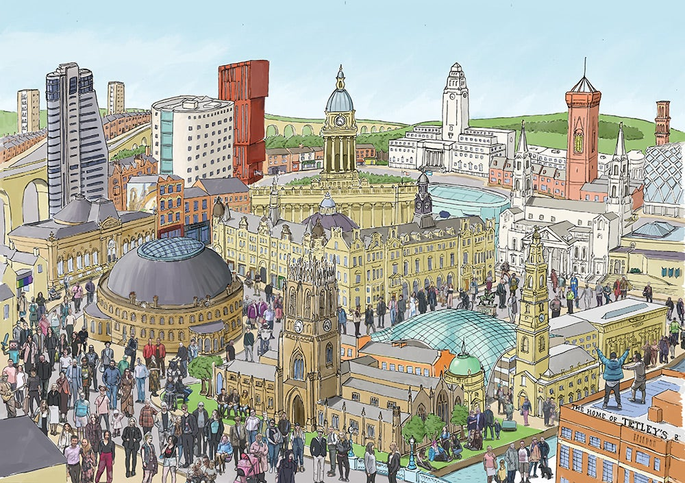 Image of Leeds in Summer - Limited edition print