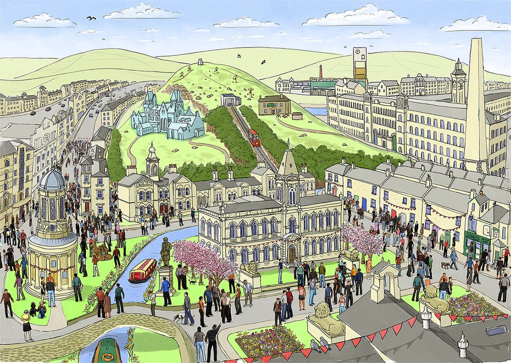 Image of Saltaire in Spring - Limited edition print