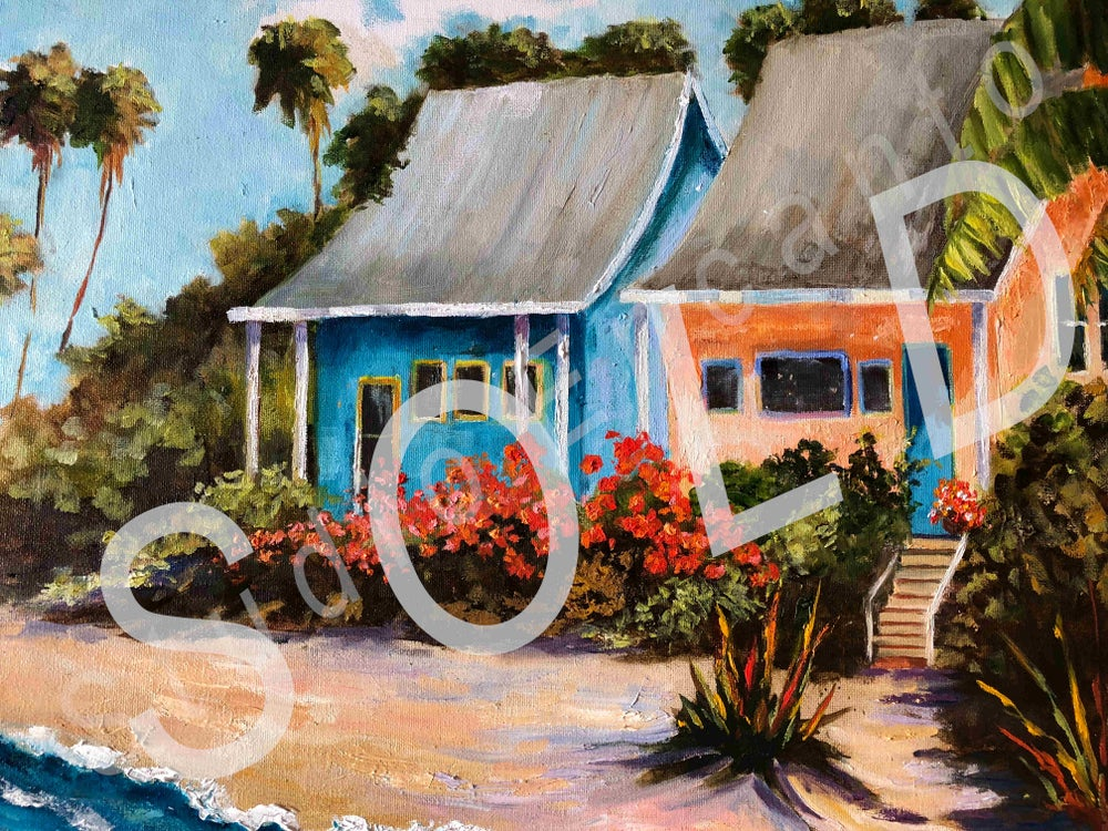 Image of Beach Cottages by Mary Rose Holmes