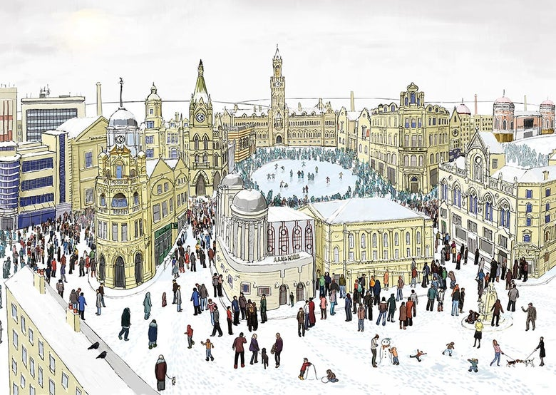 Image of Bradford in Winter - Limited edition print