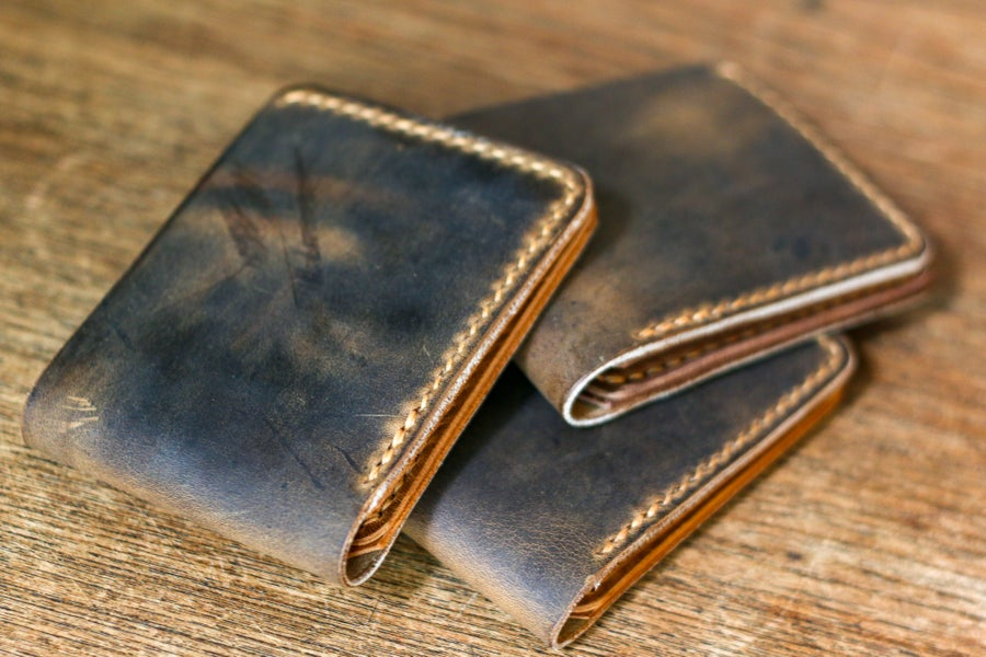 Image of Traditional Bifold in Brown Crazyhorse