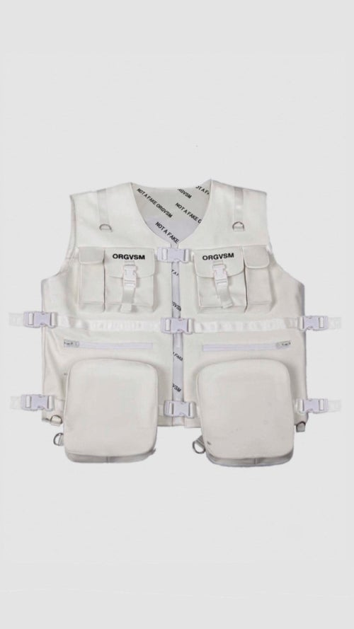 Image of LEATHER VESTS ( BLACK or WHITE )