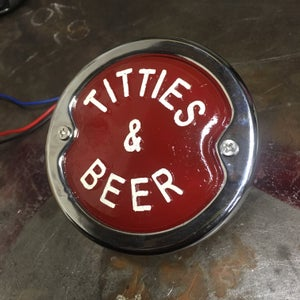Image of VintageChop Titties and Beer tail light