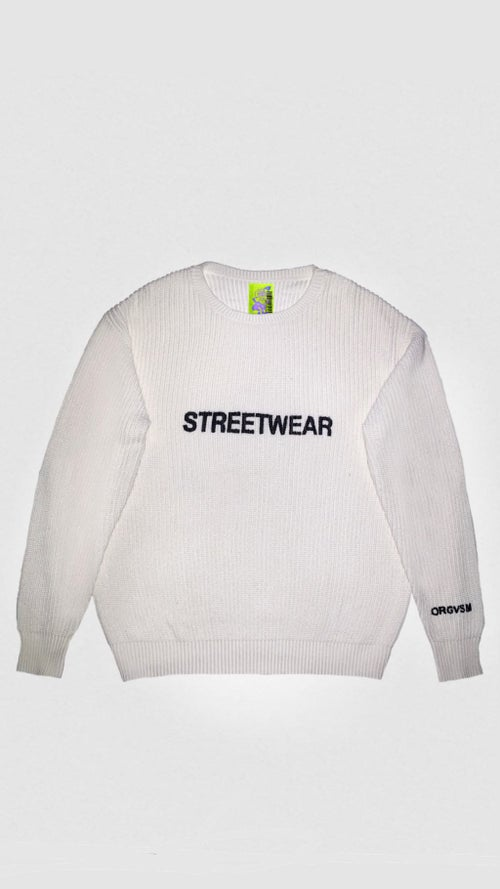 Image of STREETWEAR SWEATER ( BLACK, WHITE or SAND )
