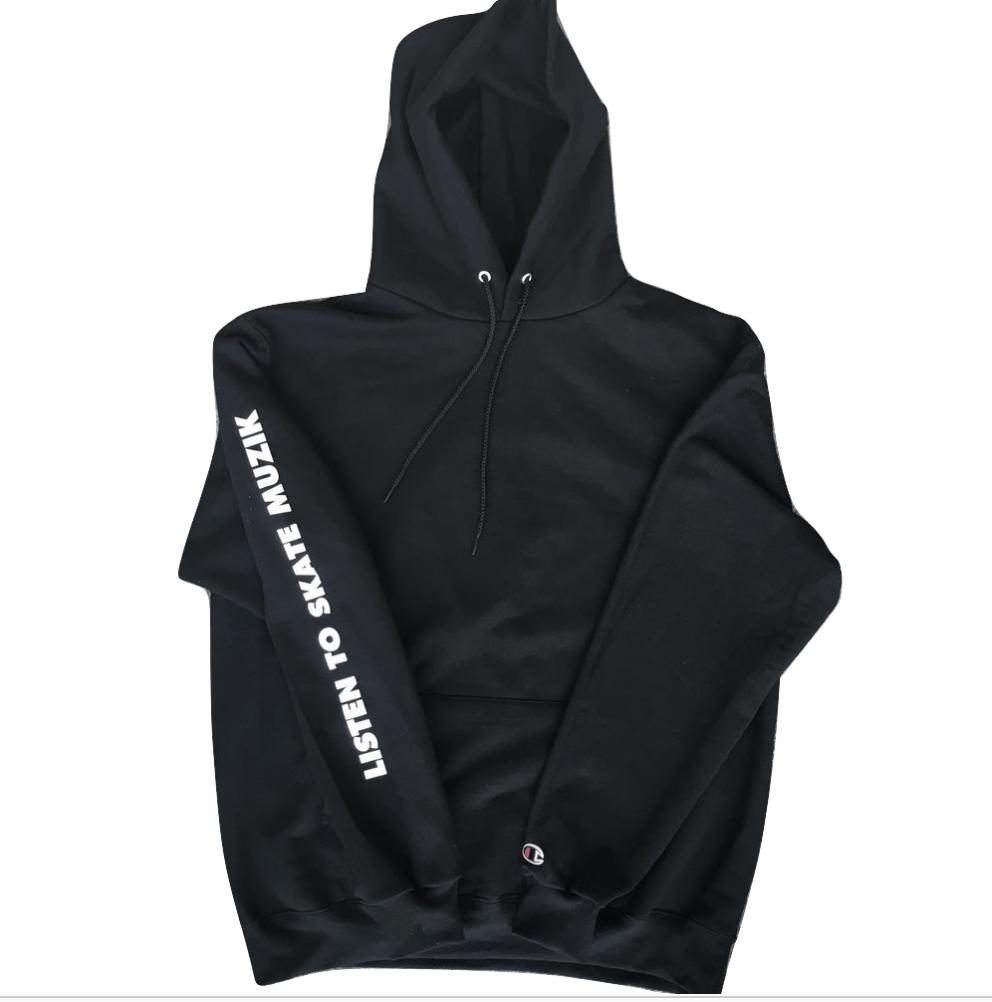 Image of Listen to Skate Muzik hoodie (Black)