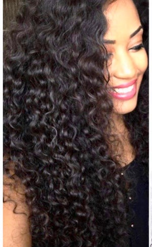 Image of LOOSE CURLY INDIAN HAIR EXTENSIONS