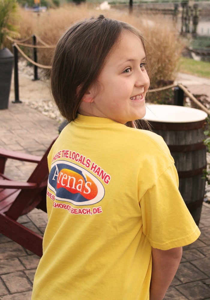 Image of Arena's Kids shirt in Yellow