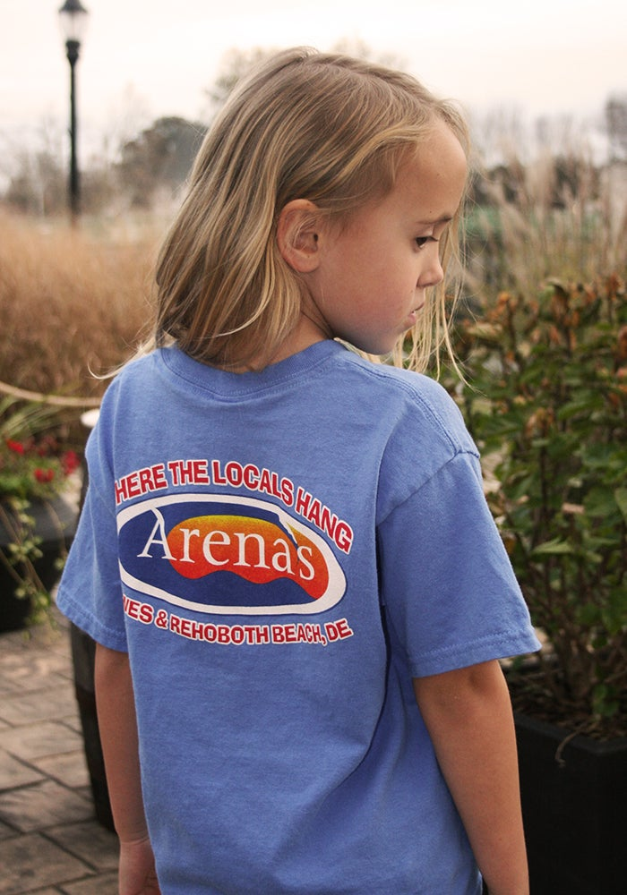Image of Arena's kids shirt in Blue
