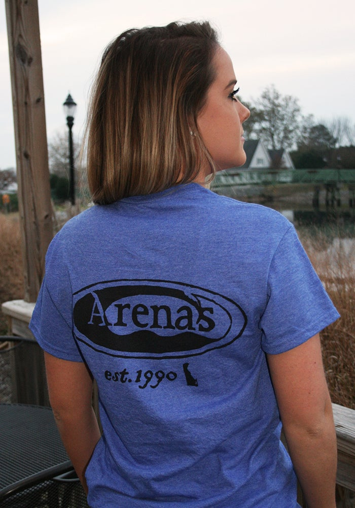 Image of Arena's Stamp Logo T-Shirt in Blue