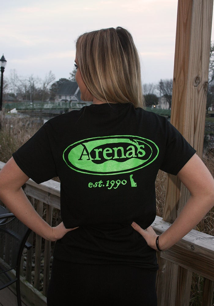 Image of Arena's Stamp Logo T-shirt Black