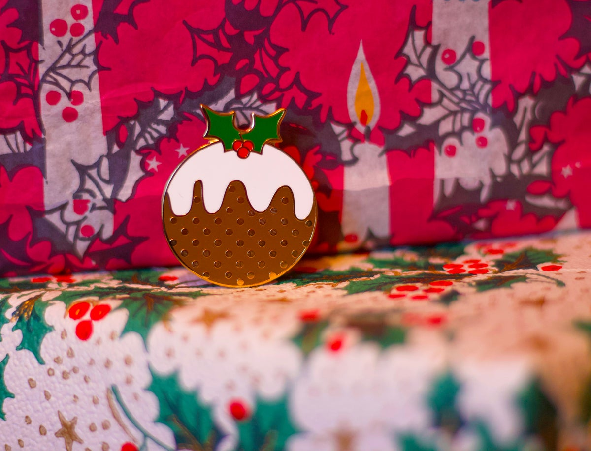 Image of Christmas Pudding Enamel Pin