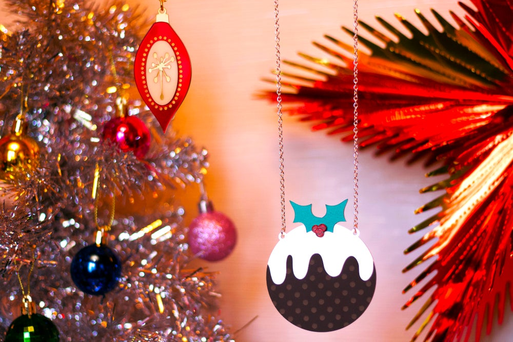 Image of Luxury Christmas Pudding Statement Necklace