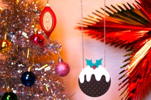 Luxury Christmas Pudding Statement Necklace  - Black Heart Creatives