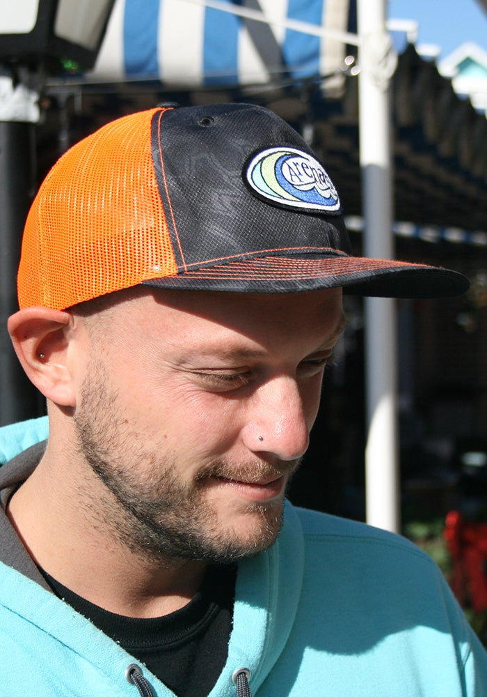 Image of Arena's Structured Snapback in Kryptek and Orange