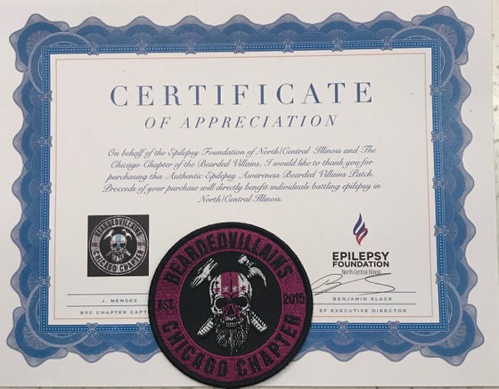 "Image of BVC PURPLE SEAL LOGO PATCH ""EPILEPSY AWARENESS PATCH"""
