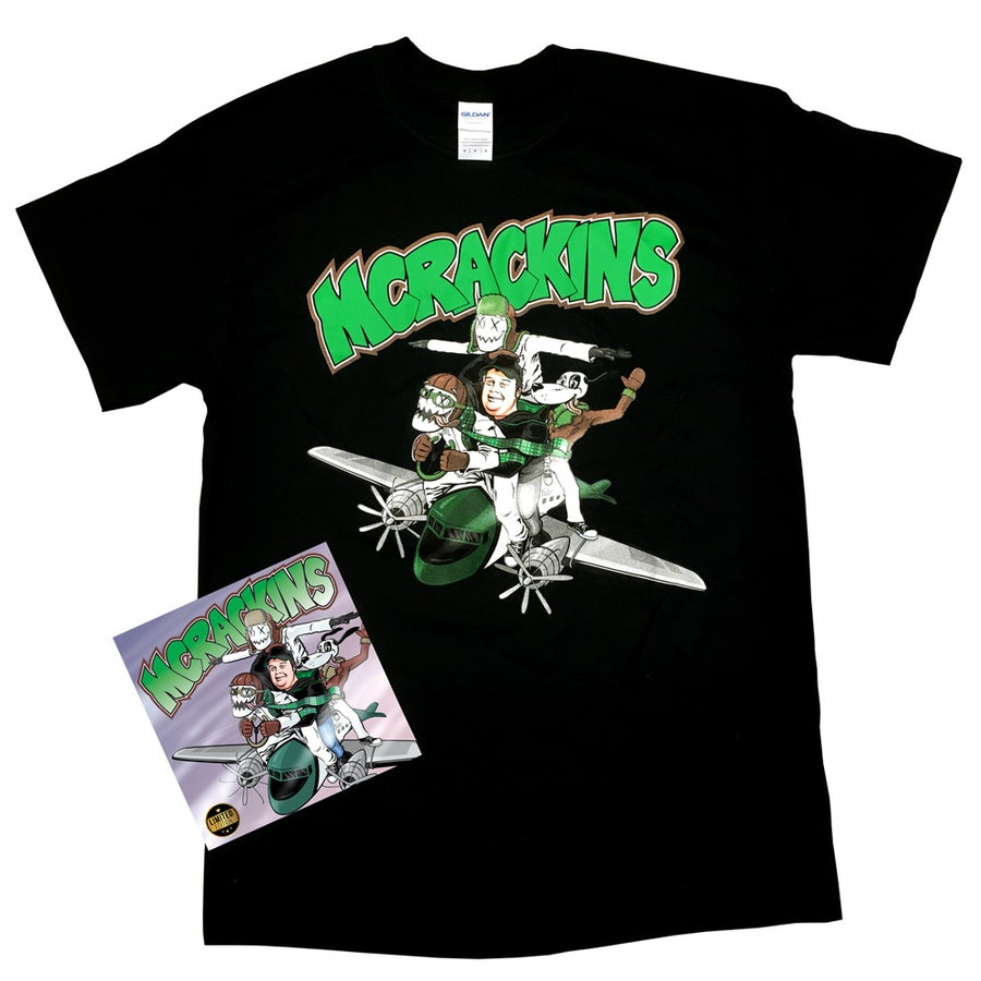 Image of Limited Edition Lathe Cut 7-inch record & Shirt.  Numbered 1-50. (LIMITED)
