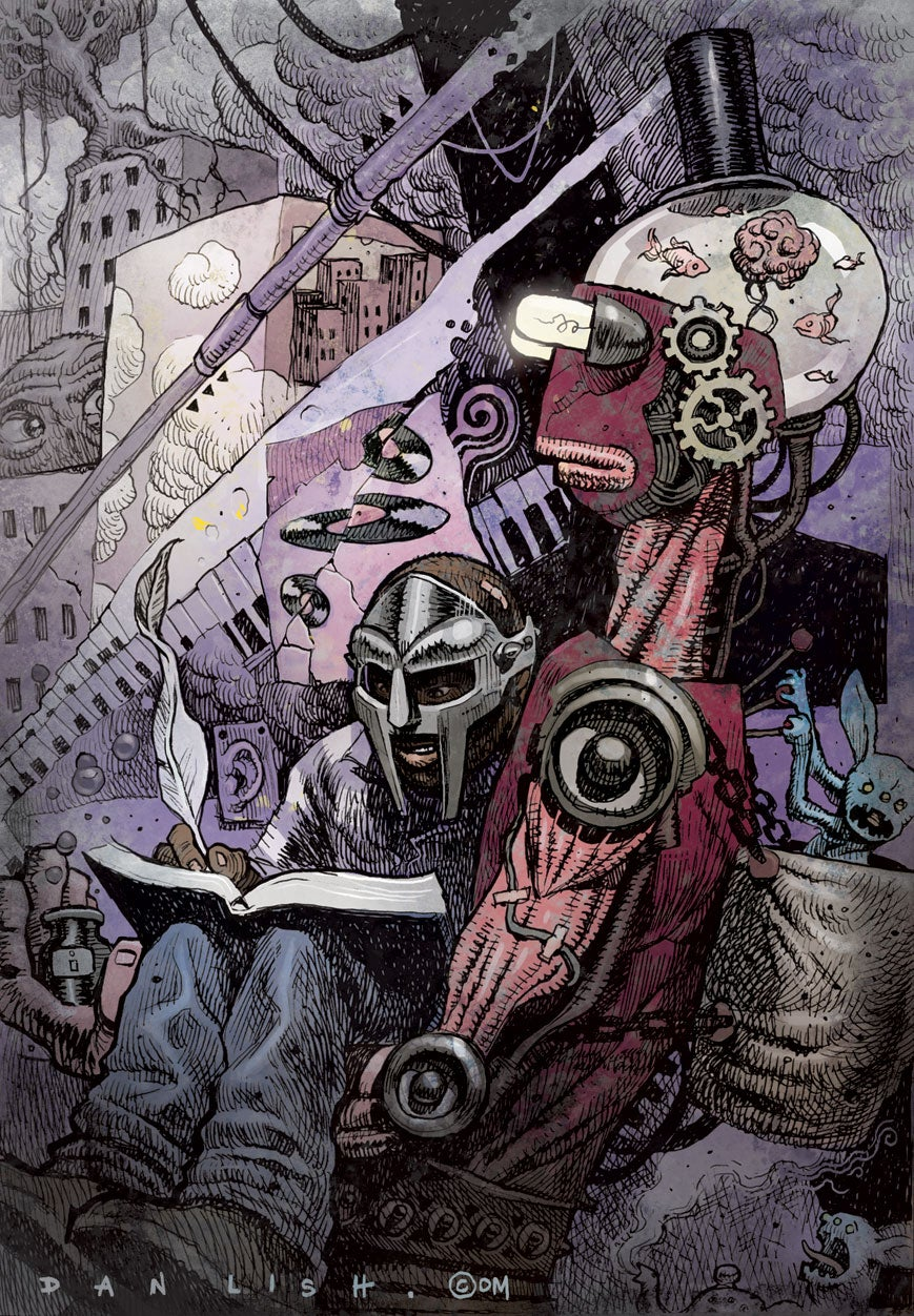 Image of MF DOOM - Lithograph Print (A/P)