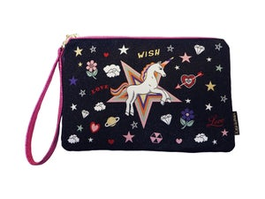 Image of Unicorn Wish Woven Pouch (2 colours)