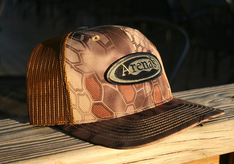 Image of Arena's Structured Snapback in Kryptek Camo