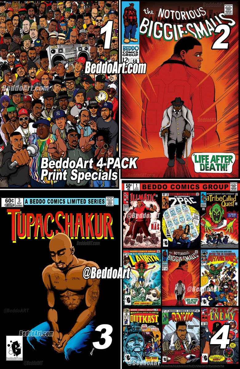 Image of Beddo Art 4-PACK PRINT Special (Limited Time)