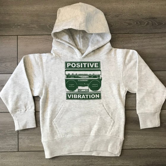 Image of Kids Positive Vibration II Oatmeal Hoodie