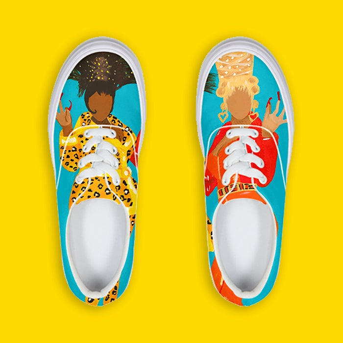 Image of Boo Yow! Lace Up Sneakers