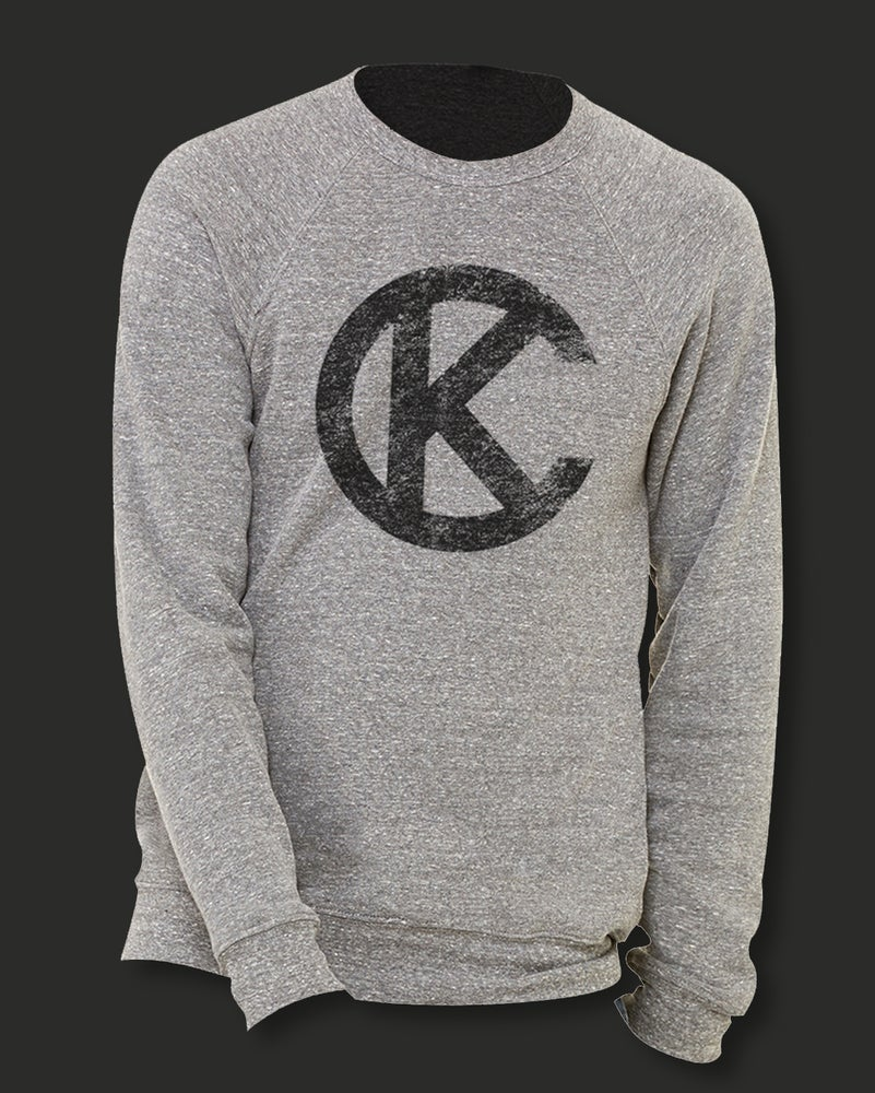 Image of NEW: LOYALTYKC GREY AND BLACK LOGO SWEATSHIRT