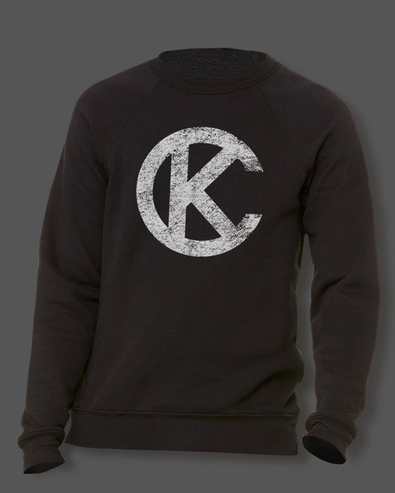 Image of LOYALTY KC BLACK AND WHITE LOGO SWEATSHIRT