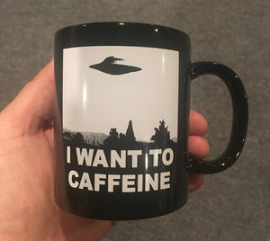 Image of I Want To Caffeine - coffee mug