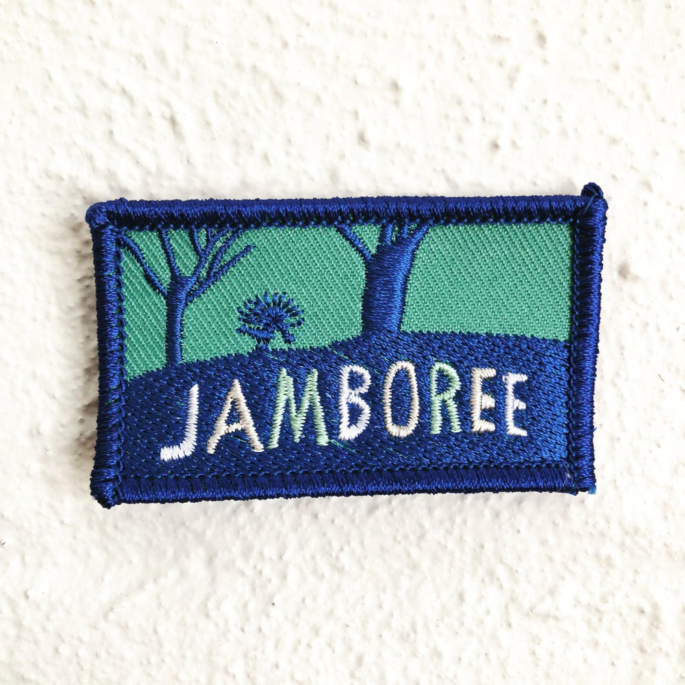 Image of Jamboree Fabric Embroidered Patch