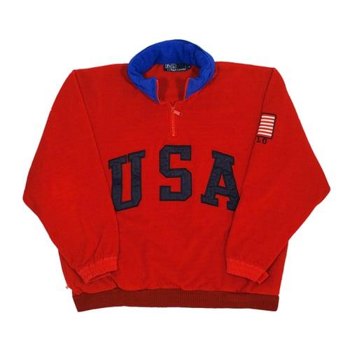 "Image of Polo Ralph Lauren Vinage Fleece ""SuperMan"" Size M"
