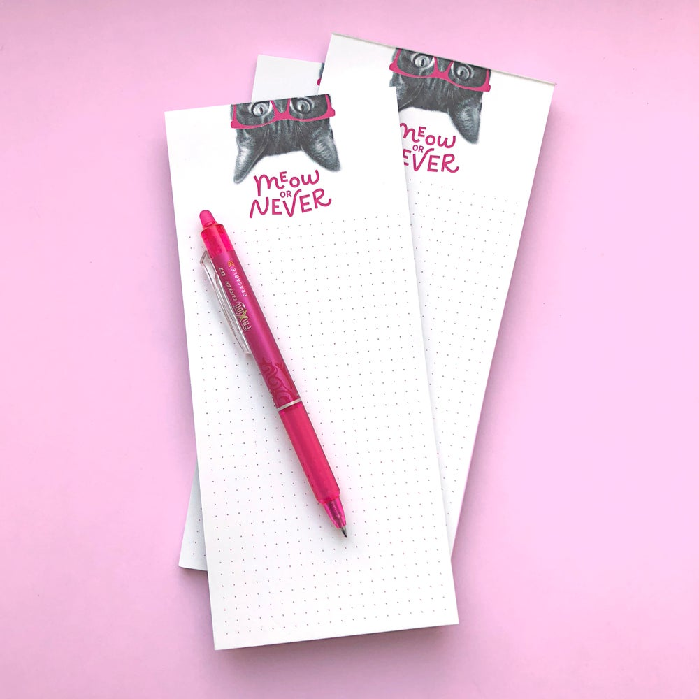 Image of gee whiskers series: meow or never notepad